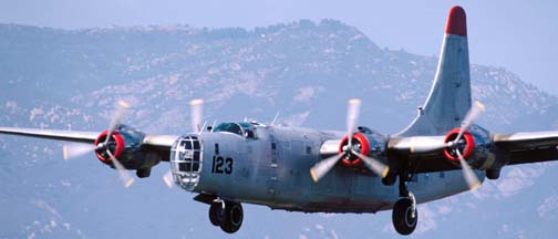 P4Y-2, N7620C 123 on approach to Santa Barbara on July 13, 1999
