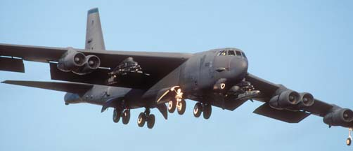 B-52H, 61-0023 of the 2nd Bomb Wing at Nellis AFB, February 1, 2000