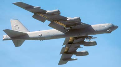B-52H, 61-0023 of the 2nd Bomb Wing at Nellis AFB, February 2, 2000
