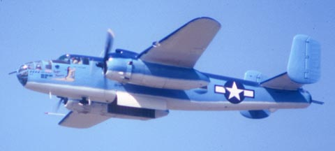 "North American B-25J Mitchell, ""Pacific Princess"" N9856C,  Pt. Mugu Naval Air Station, October 17, 1982"