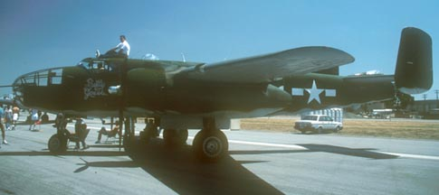 "North American B-25J, ""Betty Grable"" N3675G, El Toro Marine Corps Air Station, April 28, 1990"
