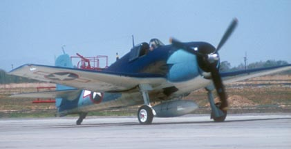 Grumman F6F-5 Hellcat N4994V, George Air Force Base, May 4, 1975
