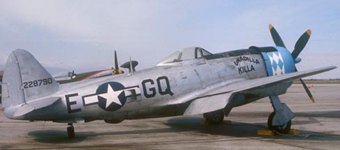 Republic P-47D Thunderbolt, N47DF, George Air Force Base, May 4, 1975