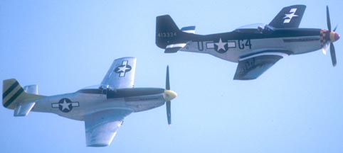 "North American P-51D Mustang, ""Wee Willy II"" NL7715C, and P-51D NL5441V"