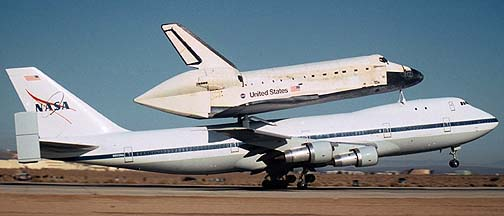 Departure of the 747 Shuttle Carrier Aircraft carrying the Space Shuttle Discovery, November 2, 2000