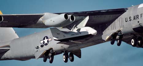 Boeing NB-52B Stratofortress mothership with X-38 Space Station Lifeboat