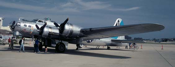 B-17G, N9323Z Sentimental Journey at Santa Barbara on May 15, 2001