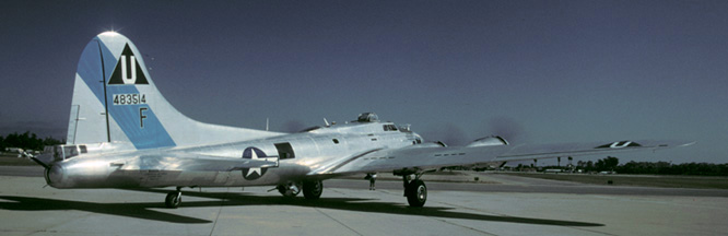 B-17G, N9323Z Sentimental Journey runs up its engines at Santa Barbara on May 22, 2001