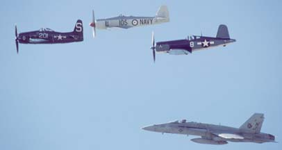 Mixed bag of Navy fighters