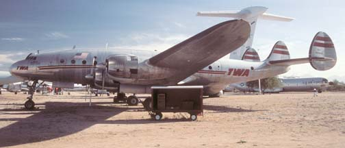 C-69, N90831 in TWA Colors at the Pima Air Museum on November 23, 2001