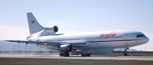 Orbital Sciences Corporation L-1011, Stargazer takes off with the HESSI spacecraft, February 1, 2002