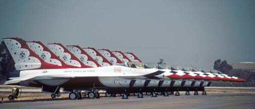 U. S. Air Force Thunderbirds F-16s