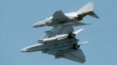 Grumman F-14 breaks from the formation