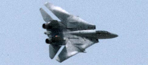 Grumman F-14 breaks into the landing pattern