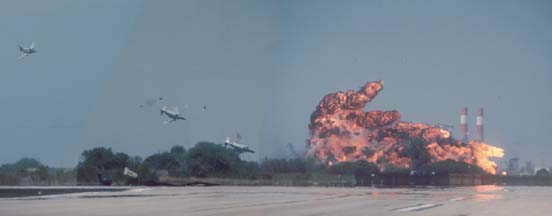 McDonnell-Douglas QF-4S+ Phantom II, 155749 explodes after impacting the ground