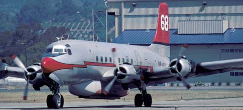 DC-6 #68, N90739 at the Santa Barbara Airport on May 12, 2002
