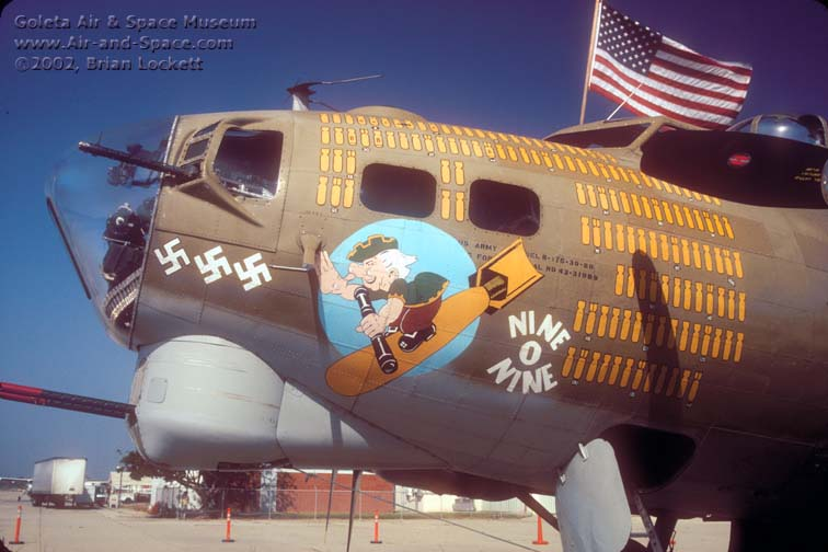 The bombers were on static  B17 Bomber Nose Art
