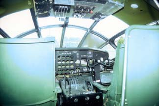 Display of the interior of RB-36H, 51-13730