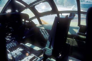 Co-pilot's seat of RB-36H, 51-13730