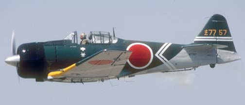 "Canadian Car and Foundry Harvard Mk IV, N7757 was modified to resemble a Mitubishi A6M ""Zero"" for the movie Tora, Tora, Tora"