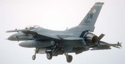Lockheed-Martin F-16C Fighting Falcon block 50Q, 93-0550 of the 55FS of the 20FW based at Shaw AFB, NC