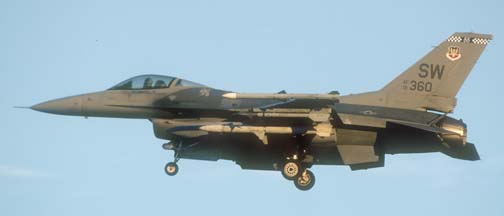 Lockheed-Martin F-16C Block 50D Fighting Falcon, 91-360 of the 20 FW based at Shaw AFB
