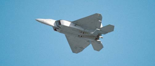 F/A-22 Raptor of the 422nd TES at Nellis AFB