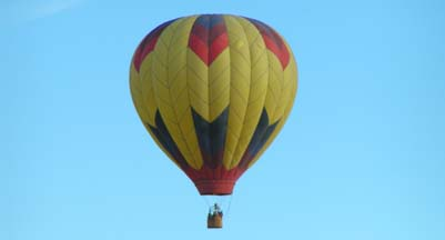 Hot Air Balloon over the Inyokern Airport