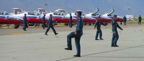 Canadian Snowbirds ground crew pre-flight performance