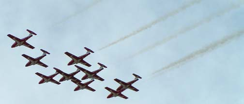 Canadair CT-114 Tutors of the Canadian Snowbirds