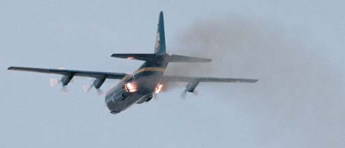 Lockheed C-130T, 164763 <em>Fat Albert</em> of the Blue Angels makes a Jet Assisted Take-Off