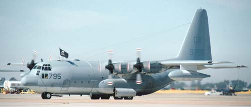 Lockheed KC-130F Hercules, 149795 of  VMGR-352 based at Miramar  MCAS.