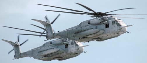 Sikorsky CH-53E Super Stallions #17 and #67 of HMH-466
