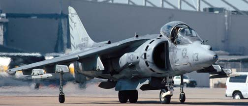 McDonnell-Douglas AV-8B Harrier, 164119 #13 of VMA-211 based at Yuma MCAS