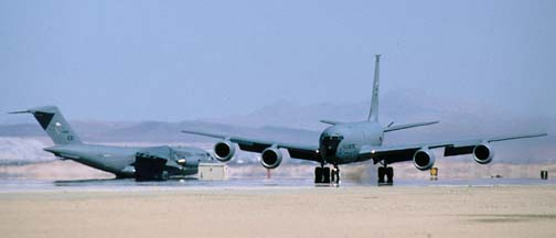 Boeing KC-135R Stratotanker, 57-1456 and Boeing-McDonnell-Douglas C-17A Globemaster III, 87-0025