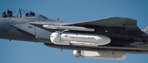 ATIMS III pod on Boeing-McDonnell-Douglas F-15D-34 Eagle, 82-0046 Glamorous Glennis of the 412th Test Wing