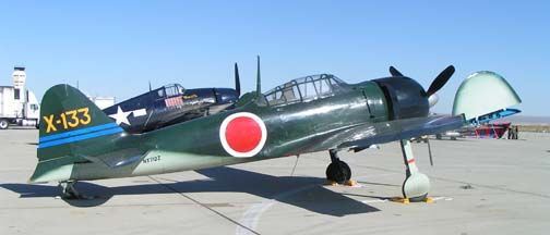 Mitsubishi A6M Zero, NX712Z of the Southern California Wing of the CAF