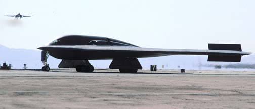 Northrop B-2A Spirit, 82-1068 Spirit of New York and Boeing-Rockwell B-1B Lancer, (83 or 85?)-0068 of the 412th Test Wing