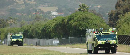 Santa Barbara Airport Firetrucks