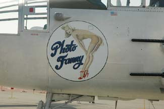North American B-25J Mitchell, N3675G Photo Fanny nose art