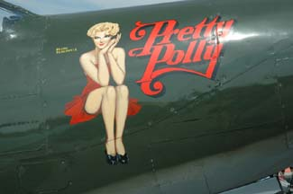 Bell P-63C King Cobra, NX163BP Pretty Polly nose art