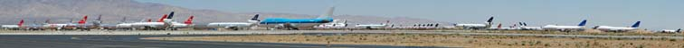 Retired airliners at Mojave