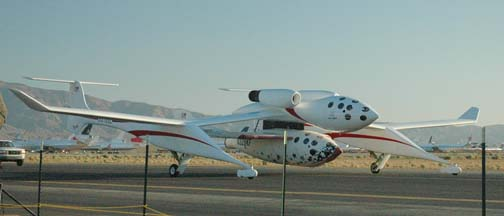 SpaceShipOne reaches 100 kilometers altitude
