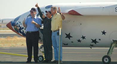 Paul Allen, Mike Melvill, and Burt Rutan