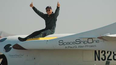 Mike Melvill atop SpaceShipOne