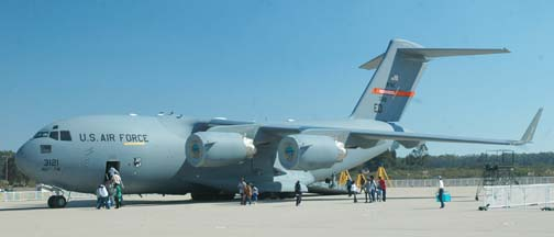 Boeing-McDonnell-Douglas C-17A Globemaster III, 03-3121 of the 412th Test Wing