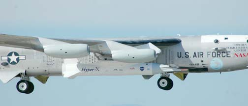 NASA's NB-52B takes off with the third X-43A Hyper-X, November 16, 2004.