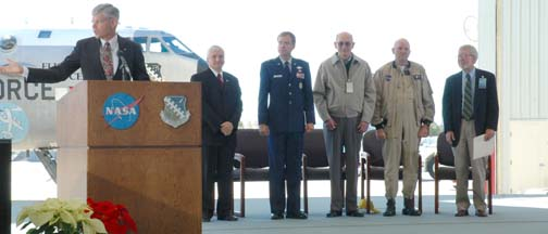 Ed Schneider, Michael Petersen, General Curtiss Bedke, Fitzhugh Fulton, Gordon Fullerton, and James Young