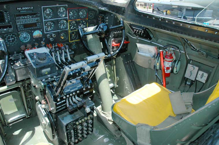 Co-pilot station  B17 Bomber Interior