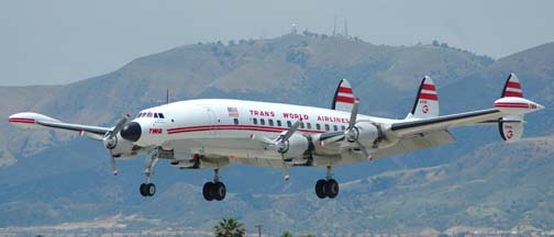 Lockheed L-1049G Super Constellation N6937C arrives at Van Nuys, Friday May 13, 2005